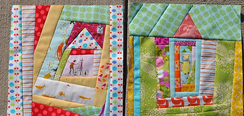 Janice's Bee Happy blocks ~ Wonky Houses