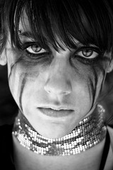 Dark Tears (andrea francesco) Tags: blackandwhite face eyes tears makeup ritratto biancoenero 2b femaleportrait behindthescreen