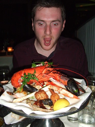 Seafood platter for two at Fishermans Wharf