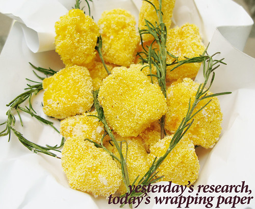 Fried Crispy Polenta with Rosemary and Salt (with title)