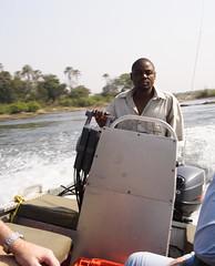 Speedboat to Victoria Falls (colincookman) Tags: africa boat victoriafalls guide zambia livingstone zambeziriver