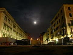 notturno in cantiere (stesitula) Tags: roma luna p notturno cantiere metroc