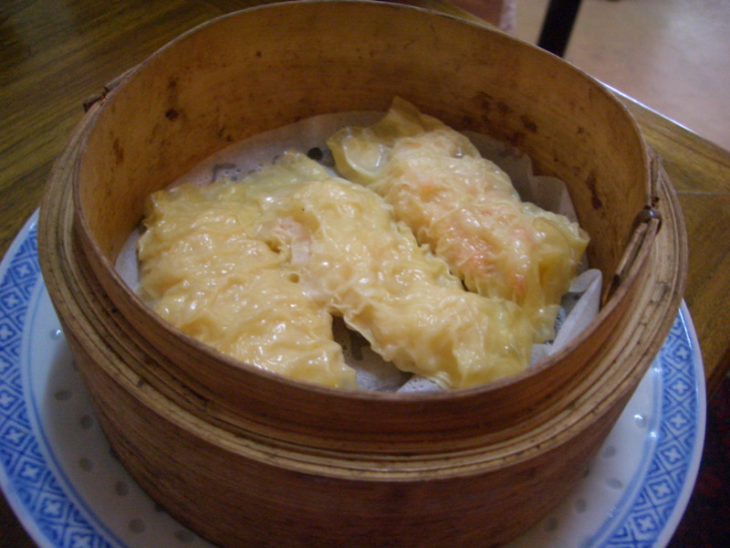 Tofu skin rolls with prawn