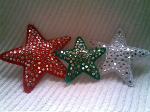 Estrelas de Espelho - Feltro por Arte Arteira - Feltro.
