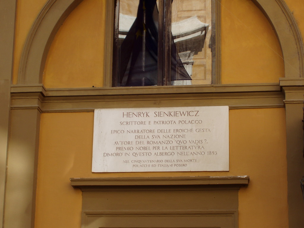 Henryk Sienkiewicz' hotel in Rome