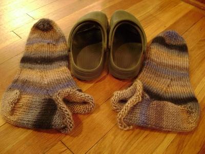 SWS Fuzzy Feet before felting
