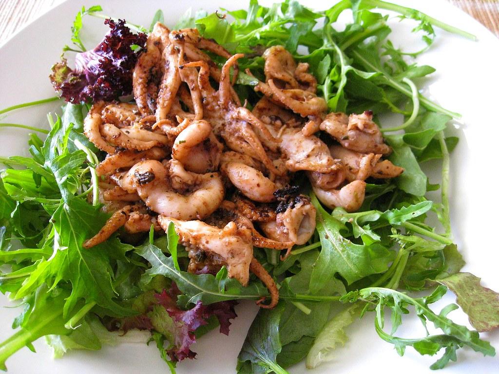 BBQ Baby Octopus salad – Adventures in Food