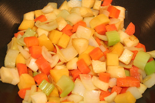 Lancashire Hot Pot - Soften the vegetables 2