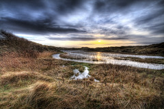 Solitude (BarneyF) Tags: sunset sky reflection grass landscape sand dune ainsdale merseyside themoulinrouge firstquality 7exp anawesomeshot theperfectphotographer