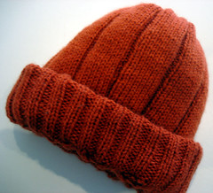 Honeycomb Cabled Hat, ribs