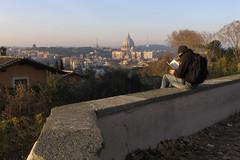 Letture al Gianicolo (candido33) Tags: people italy panorama rome roma landscape italia gente gianicolo lettori photobyaureliocandido