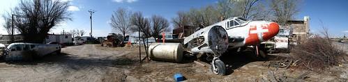 Airplane graveyard in Tornillo, Texas, USA