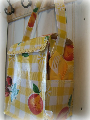 big yellow gingham lunch bag-crafting 365- day 33