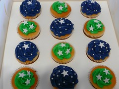 For Pete - My Hero (Meg&Fred) Tags: green stars cupcakes navy forpete thecupcakecompanycupcakes