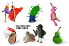 Superstitious Clay 2 (zoppelganger) Tags: toys figurines clay sculpey superstitions