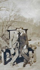 In front of a Model T (kevin63) Tags: 1920s men car hugging antique westvirginia spencer modelt lightner