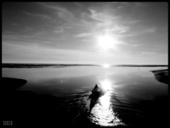 Searching the lost shores (Shima Hitotsu) Tags: sea sky bw italy landscape noiretblanc grado monart veneziagiulia 123bw 35faves aplusphoto diamondclassphotographer goldstaraward