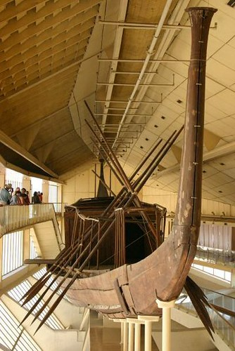 Barca solar de Keops, Museo, Giza