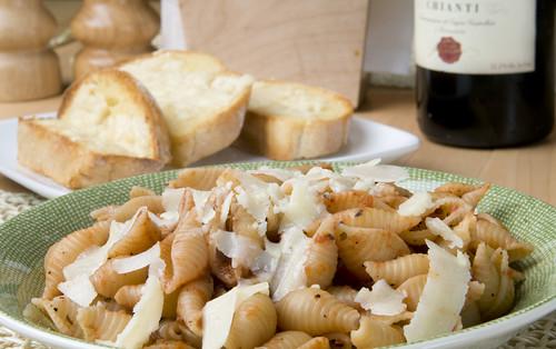 Pasta Dinner With Wine