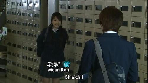 Shinichi teases Ran