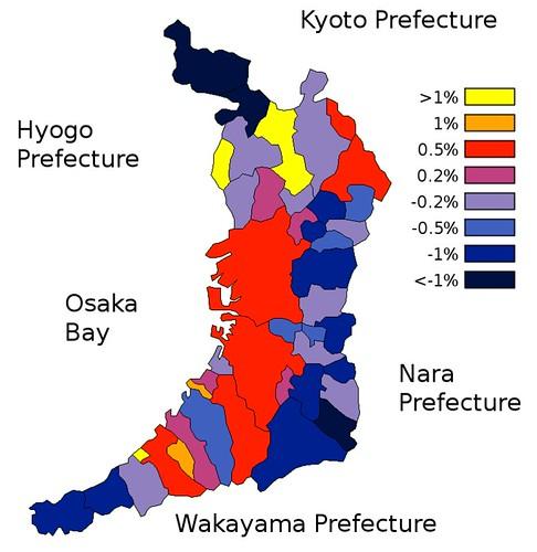 Osaka Population Change