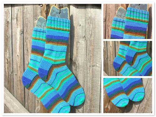 Kaffe Fassett Regia socks (by aswim in knits)