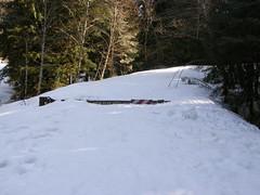 Snow Play gate at start of Deer Creek road.