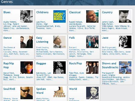 Tesco Digital browse by genre