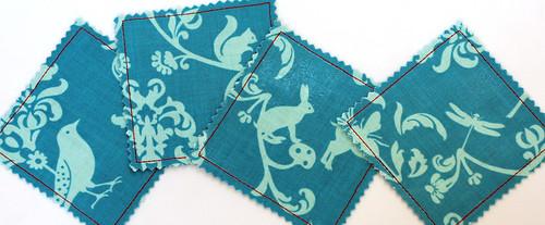 Vinyl + fabric coasters