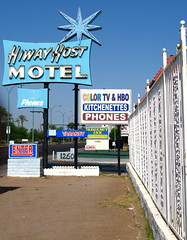 Hiway Host Motel (kevin dooley) Tags: hiway host motel main street mesa alma school hotel color tv cable fence vanishing point car outthewindow driveby arizona phoenix eastvalley valleyofthesun southwest desert vintage sign signage canon g7 powershot best very good most excellent incredible super pretty gorgeous awesome much favorite exciting superior fantastic wow winner award phenomenal stunning breathtaking beautiful flickr interesting