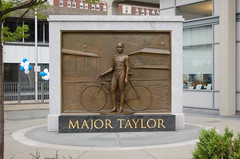 Major Taylor Statue (photo by pelletman)