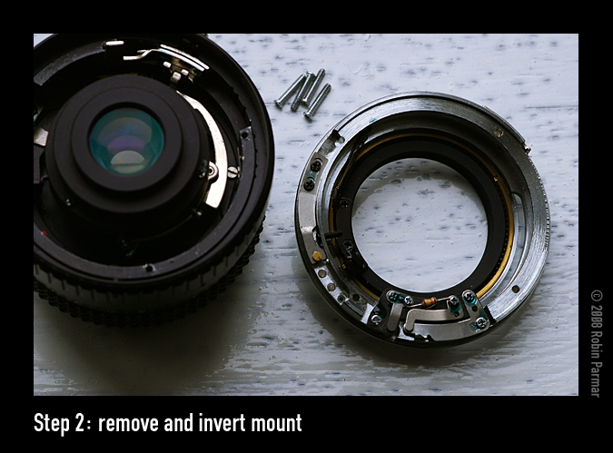 Step 2: remove and invert mount