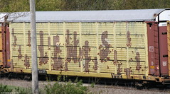 Lewis A2M (quiet-silence) Tags: railroad art train graffiti lewis railcar roller graff freight autorack wholecar fr8 a2m