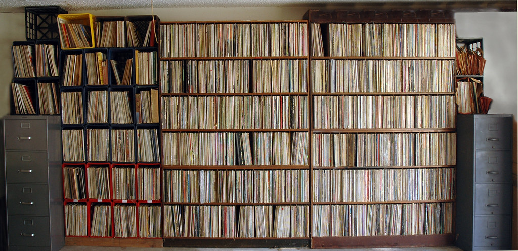 The Record Collection, record shelves, music.