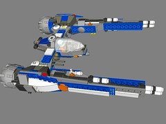 SF-15B Halberd (peterlmorris) Tags: toy fighter lego oldandnew moc starfighter afw