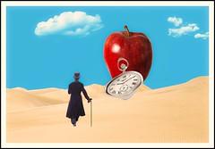 Fata Morgana (Swissrock-II) Tags: challenge surreal reneschule digitalmania dessert apple clock clouds photoshop photomanipulation photoshopart digitalart digital february andykobel lightroom 2017