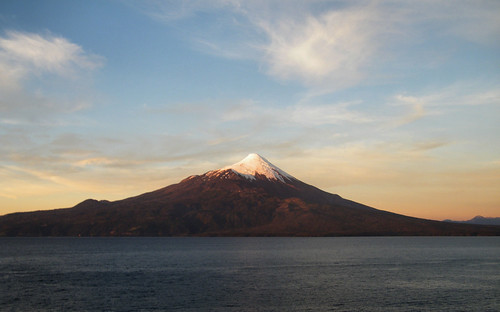 Osorno Volcano at Sunset by katiealley on Flickr