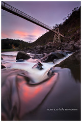 Lovelight (Dylan Toh) Tags: bridge sky reflection water river landscape flow photography suspension australia tasmania dee launceston cataractgorge everlook