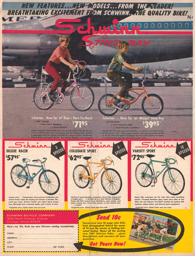 1967 Schwinn Ad - Rams Horn - Midget