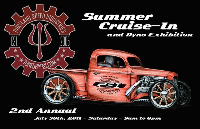 PSI Summer Cruise-In 2011 flyer front