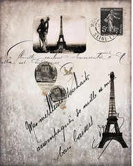 Eiffel Tower French brushes