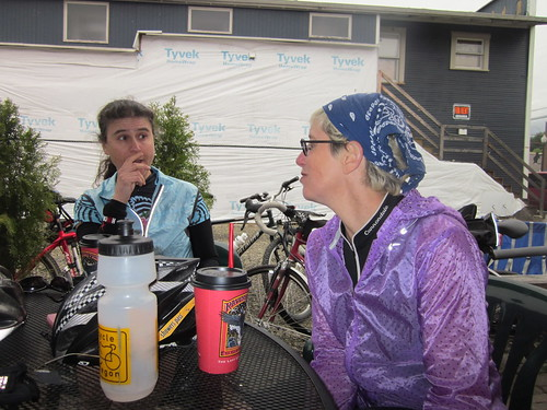 Susie and Cecil at the Black Bear Coffee Company in Vernonia