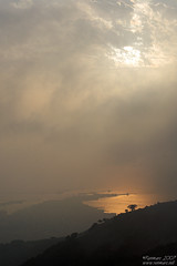 Sun through the fog (Renmarc) Tags: sea sky cloud sun nature fog clouds flickr nuvole mare nuvola favorites natura medieval more cielo sicily faves favs saline sicilia erice trapani mistery foschia interestingess mywinners renmarc diamondclassphotographer