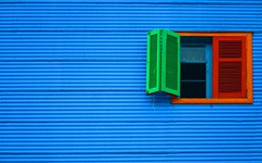 la ventanita del amor (silkegb) Tags: blue red color verde green window argentina azul