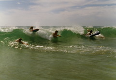 Splash Down - Moana (Rikx) Tags: sea summer slr film beach water fun waves australia surfing 35mmfilm adelaide southaustralia minoltasrt101 boogieboard passionphotography wowiekazowie dazzlingshots theperfectphotographer