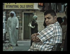Take It Easy , Morpheus ... ( 2007 ) (Meshary AlObaid [ K h a N ]) Tags: man market smoking egyptian kuwait soug dera miditation mobarkiah