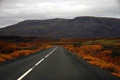 Thingvellir (Vala Run) Tags: road autumn fall colors nationalpark colours canon300d haust thingvellir þingvellir litir vegur þjóðgarður valarun