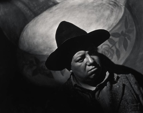 "Edward Weston, ""Diego Rivera, Mexico,"" 1924, gelatin silver print, gift of the friends of the museum, Jordan Schnitzer Museum of Art"