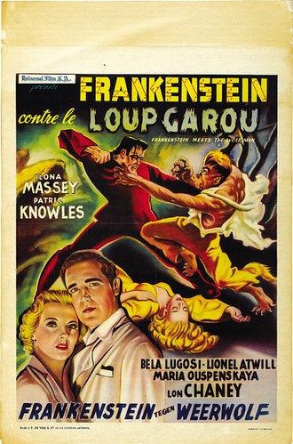 frankenstein meets the wolf man french