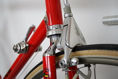 Campagnolo C Record Delta (Racing snake1) Tags: columbus red classic bike bicycle cycling stem bars strada ride time omega delta super racing headset chain chrome cycle frame brakes pedals rims forks regal saddle tubs crank corsa hubs vittoria freewheel seatpost campagnolo 7s benotto cinelli slx hardox corsarecord cinelli1r powergrade